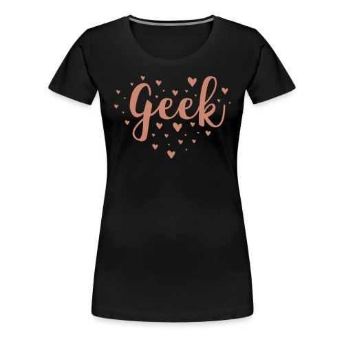 cute geek heart - Women's Premium T-Shirt