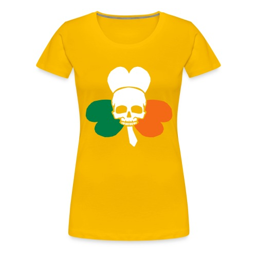 irish_skull_shamrock - Women's Premium T-Shirt