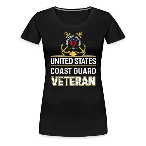 UNITED STATES COAST GUARD VETERAN - Women's Premium T-Shirt