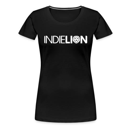 IndieLion textlogo white 01 png - Women's Premium T-Shirt