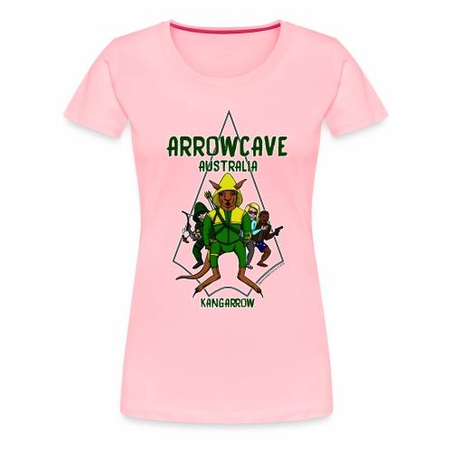 Arrow Cave Logo - Dark - Women's Premium T-Shirt