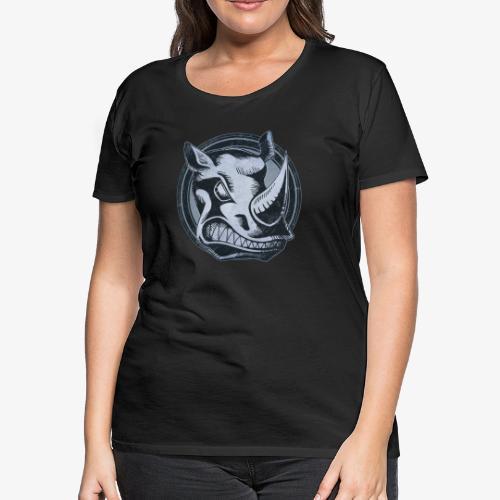 Wild Rhino Grunge Animal - Women's Premium T-Shirt