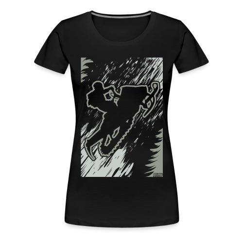 Snowmobiling Forest Run - Women's Premium T-Shirt