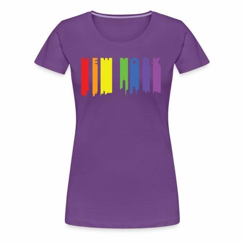 New York design Rainbow - Women's Premium T-Shirt