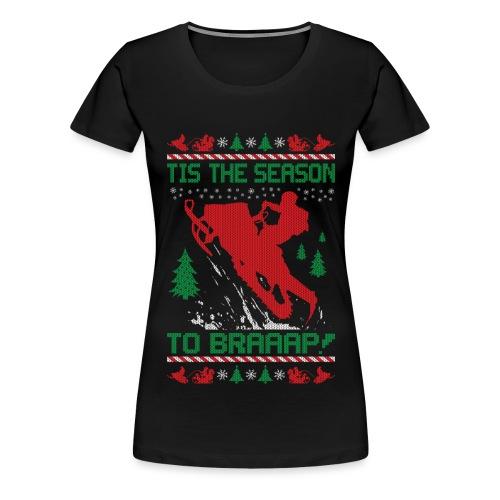 Snowmobile Ugly Christmas - Women's Premium T-Shirt