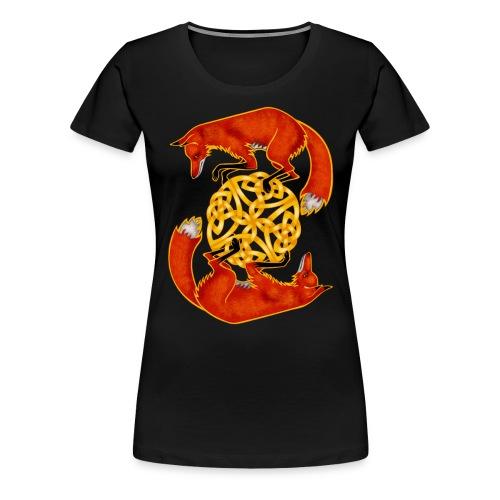 Circling Foxes - Women's Premium T-Shirt