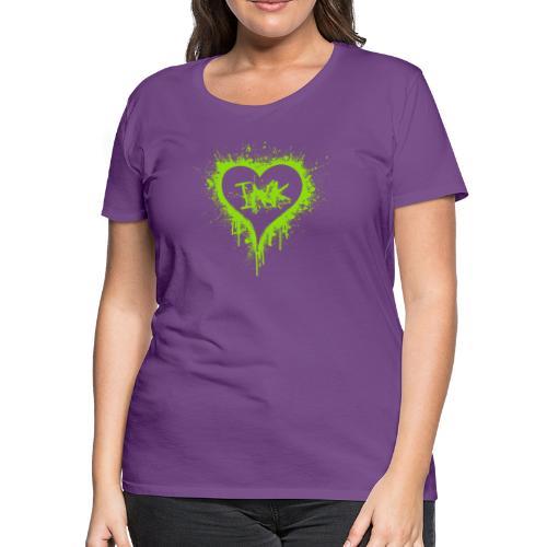 I Love Ink_green - Women's Premium T-Shirt