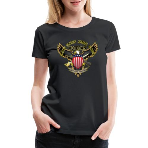 United States Armed Forces Veteran, Proudly Served - Women's Premium T-Shirt