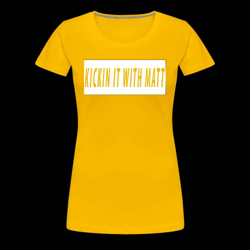 White Design - Women's Premium T-Shirt