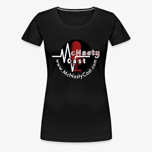 MC Logo with Web Address White - Women's Premium T-Shirt