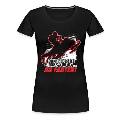 Snowmobile Faster Red - Women's Premium T-Shirt