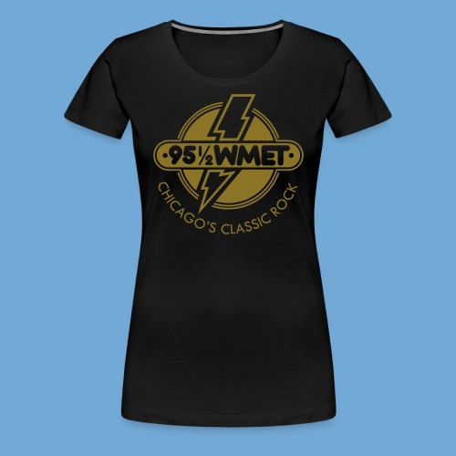 WMET logo (variable color) - Women's Premium T-Shirt