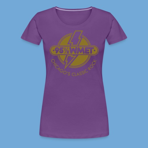WMET logo (variable color) - Women's Premium T-Shirt