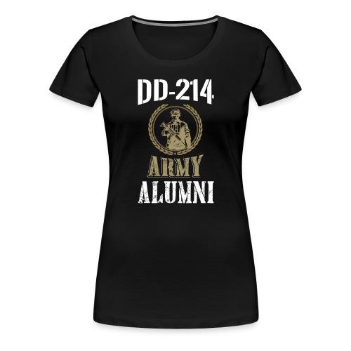 DD-214 ARMY ALUMNI - Women's Premium T-Shirt