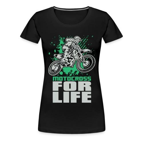 Motocross For Life Stunt - Women's Premium T-Shirt