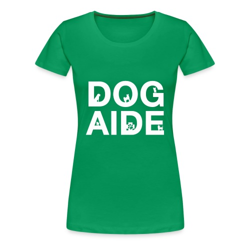 dog aide NEW white - Women's Premium T-Shirt
