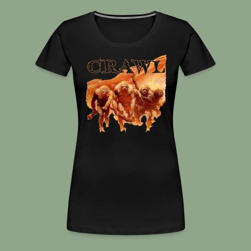 Crawl Neanderthal T Shirt - Women's Premium T-Shirt