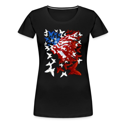 The Butterfly Flag - Women's Premium T-Shirt