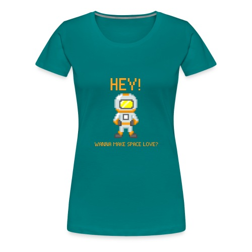 spacelove2 png - Women's Premium T-Shirt
