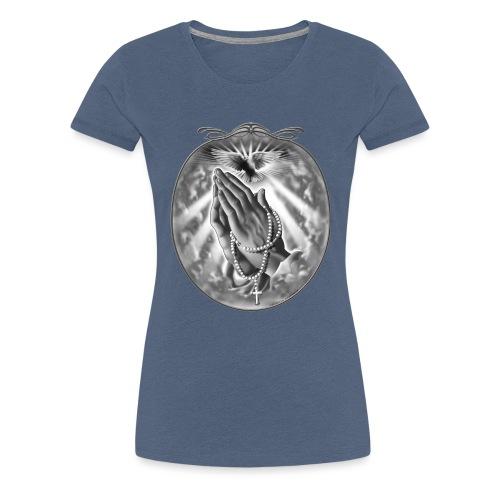 Praying Hands by RollinLow - Women's Premium T-Shirt