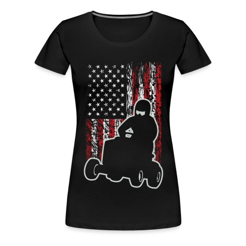 Lawnmower Race USA Grunge - Women's Premium T-Shirt
