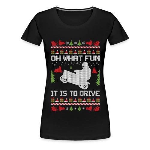 Lawnmower Christmas - Women's Premium T-Shirt