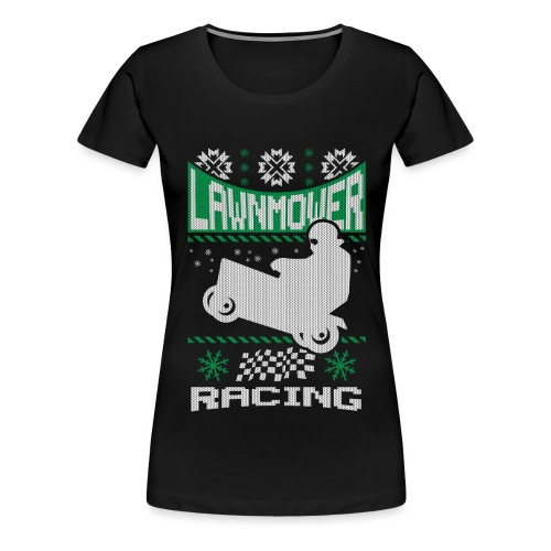 Lawnmower Ugly Christmas - Women's Premium T-Shirt