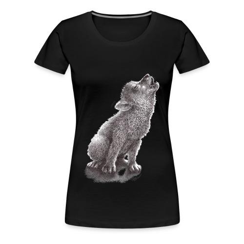 Little Howling Wolf - Women's Premium T-Shirt