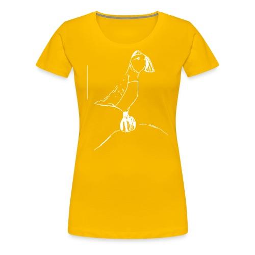 Stephen's hand drawn puffin - Women's Premium T-Shirt