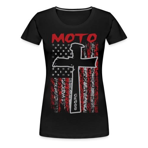 Motocross Christian - Women's Premium T-Shirt