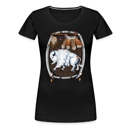 White Buffalo Shield - Women's Premium T-Shirt