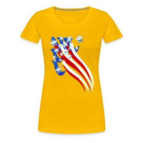 Sweeping Old Glory - Women's Premium T-Shirt