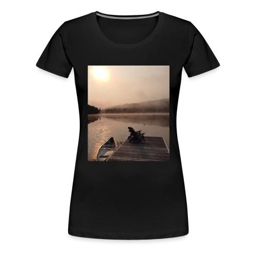 Paint Lake Dock - Women's Premium T-Shirt