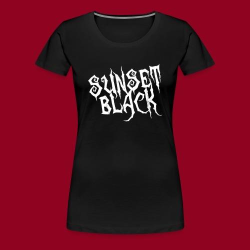 Sunset Black (White Logo) - Women's Premium T-Shirt