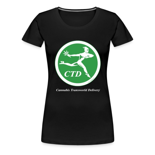 Cannabis Transworld Delivery - Green-White - Women's Premium T-Shirt