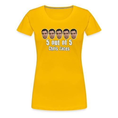 chris faces tshirt full color2 - Women's Premium T-Shirt