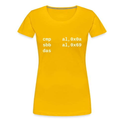 das - Women's Premium T-Shirt