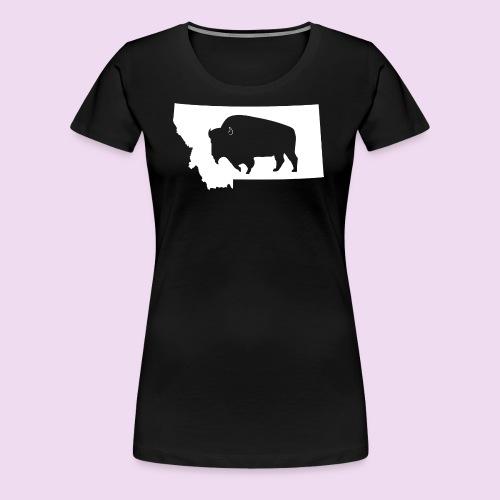 Bison Montana (White) - Women's Premium T-Shirt