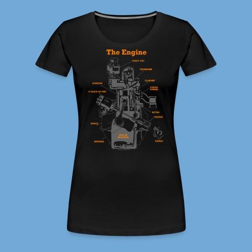 Engine Diagram - Women's Premium T-Shirt