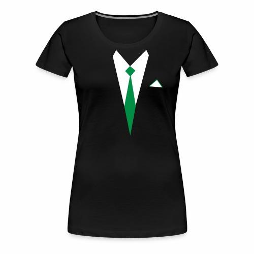 White Shirt Green Tie PhiL Green - Women's Premium T-Shirt