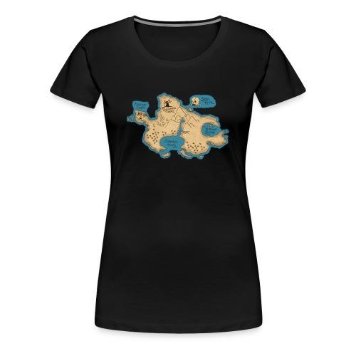 neverlandmap - Women's Premium T-Shirt