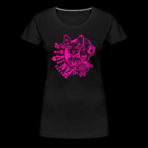 StainzcatPink - Women's Premium T-Shirt
