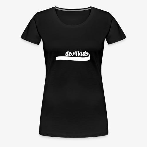 dev4kids Logo White - Women's Premium T-Shirt