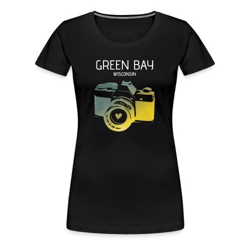 Green Bay camera with heart - Women's Premium T-Shirt