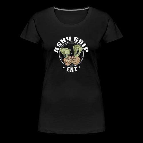 Ashy Grip Logo 1 - Women's Premium T-Shirt