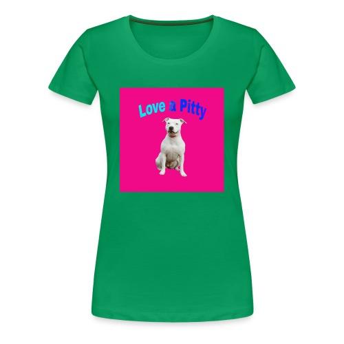 Pink Pit Bull - Women's Premium T-Shirt