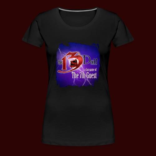 The 13th Doll Logo With Lightning - Women's Premium T-Shirt