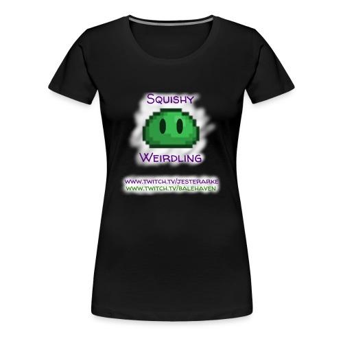 Green Squishy with white splash & adressess - Women's Premium T-Shirt
