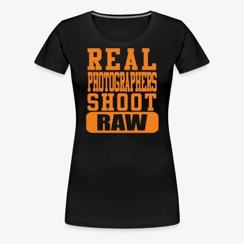 Real Photgs Orange - Women's Premium T-Shirt