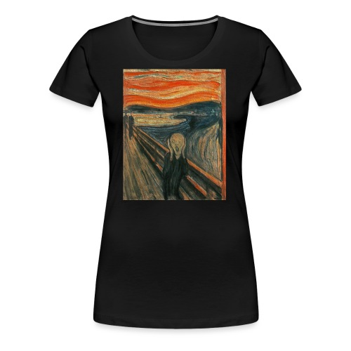 The Scream (Textured) by Edvard Munch - Women's Premium T-Shirt